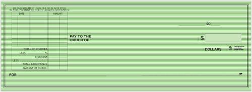 Green Safety Deduction Voucher Checks