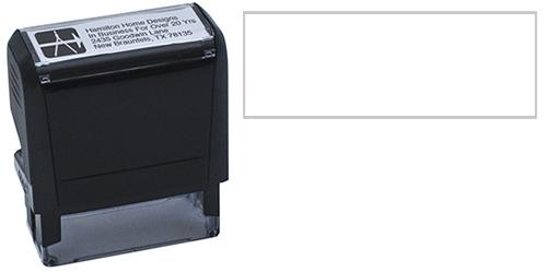 4-Line Self-Inking Stamp w/Logo