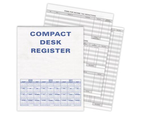 compact desk transaction register checks superstore
