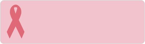 Pink Ribbon on Pink Background Awareness Sheet Labels
