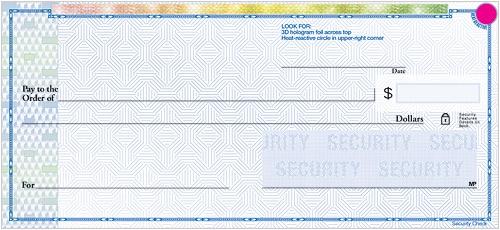 High Security Blue Checks