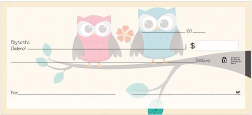 Whimsical Owls Checks