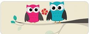 Whimsical Owls Address Labels