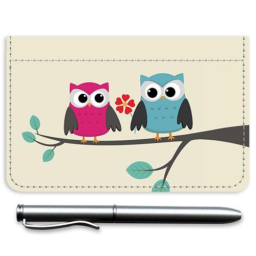 Whimsical Owls Debit Caddy