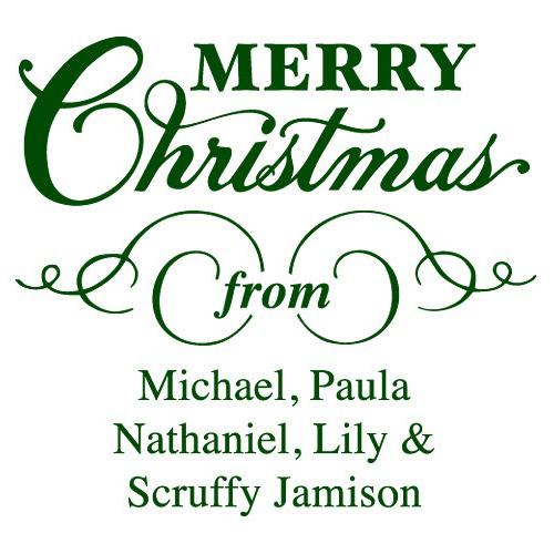 Merry Christmas Stamp