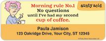 Aunty Acid Coffee Address Labels