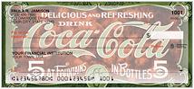 Coca-Cola Retro Signs Checks