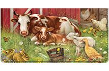 Image of Art Style Farm Animal Checkbook Cover