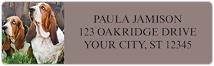 Basset Hound Address Labels